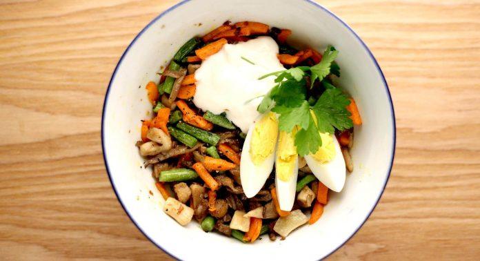 Salat mit Austernpilzen