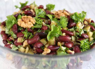 Eiweißreicher-rote-Bohnen-Salat